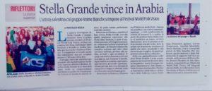 Articolo giornale Arabia